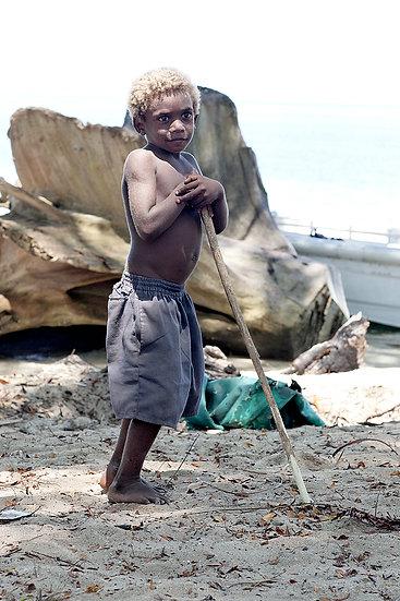 Papua New Guinea child on the beach