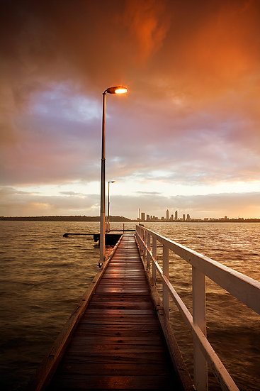 copy of Jetty, Swan River, Applecross, Perth City, Western Australia