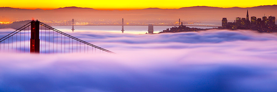 The Golden Gate Bridge Fog California USA