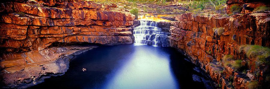 Waterfall, Bells Gorge, Karijini National Parks, Pilbara, NW Australia