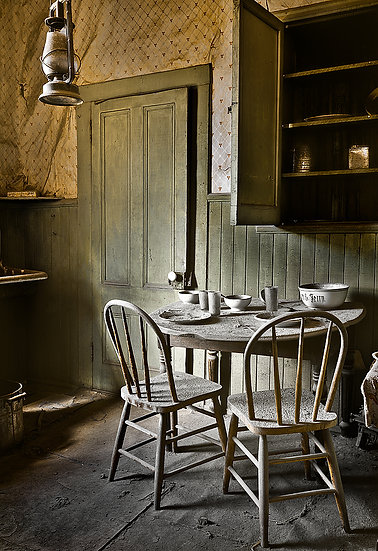 Old Table And Chairs Bodie California USA