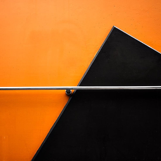 Angles on an Orange Building, Perth Western Australia