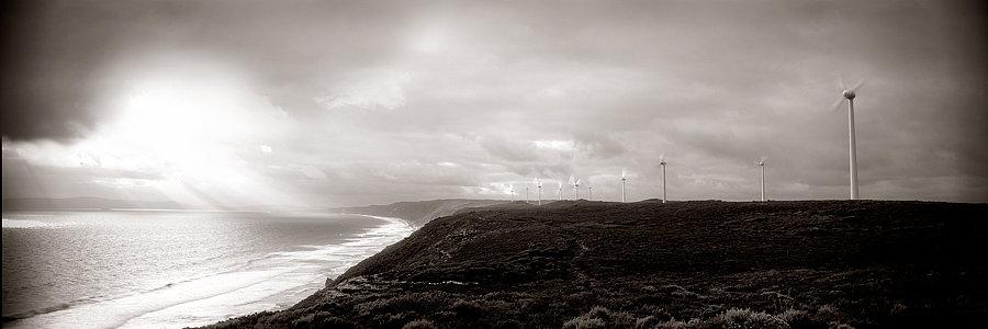 Wind Farm Turbines on the coast, Western Australia