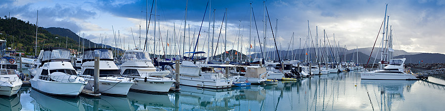 Yachts in the marina at Airlie Beach, Queensland, Australia