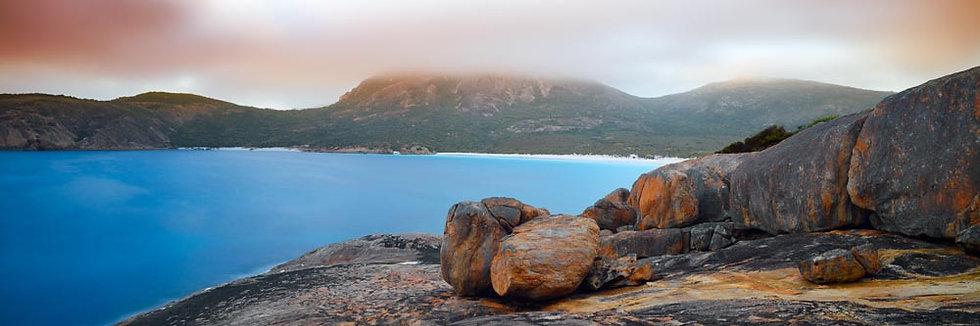 Sunrise, Esperance Coast with Granite Boulders, Western Australia