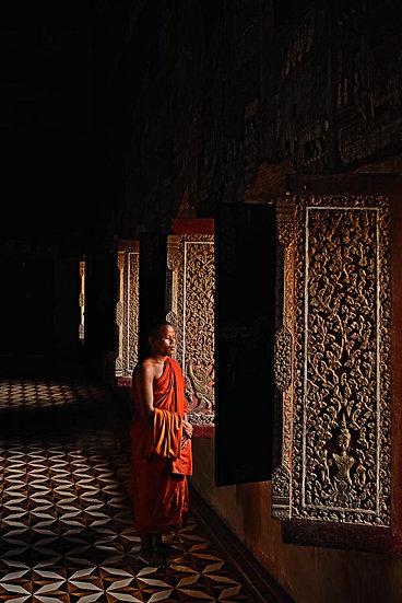 Cambodian Monk in Siem Reap