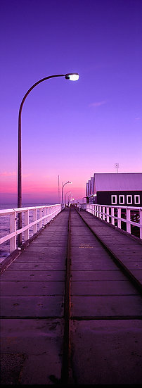 Train line of Busselton Jetty, South Western Australia