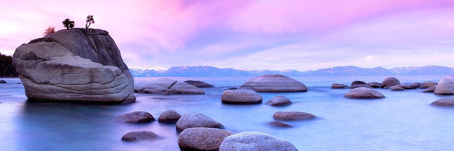 Rocks on Lake Tahoe, USA