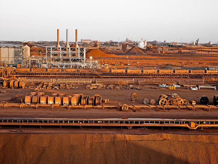 Iron Ore Mining in the Pilbara, Port Hedland, North Western Australia