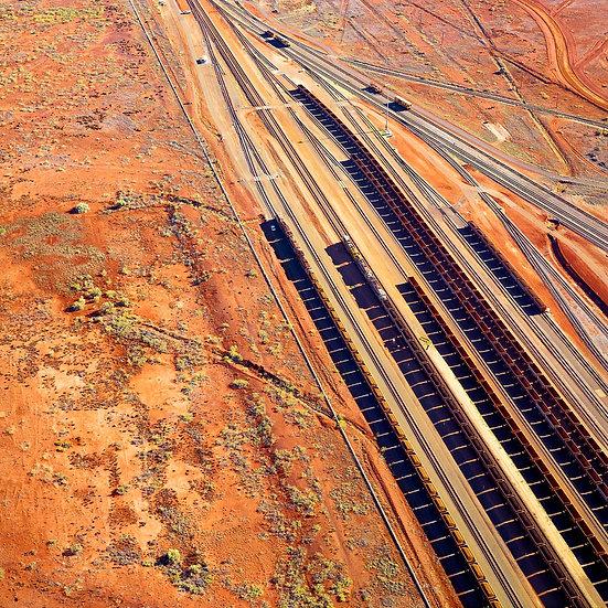 Iron Ore Trains, Karratha, Dampier, Pilbara, North Western Australia