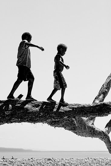Children Playing, Papua New Guinea
