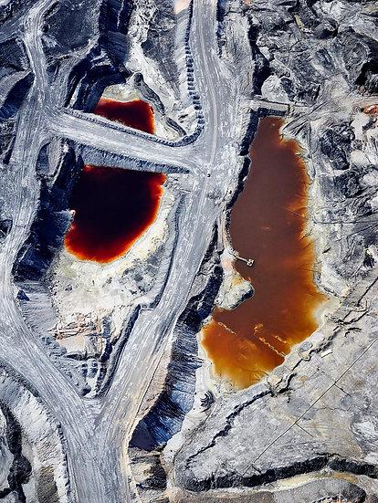 Tailings Dam, Coal Mine, Collie, South Western Australia