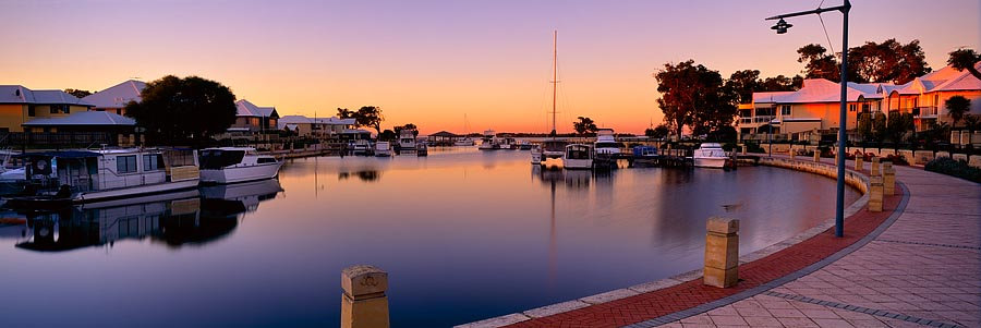 Sunset, Mandurah Quay, Western Australia