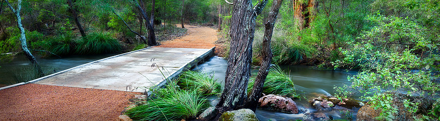 Bridge crossing over a river in Margaret River, South Western Australia