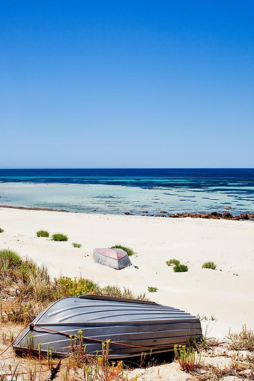 Beach and Dingy, Dunsborough, South Western Australia