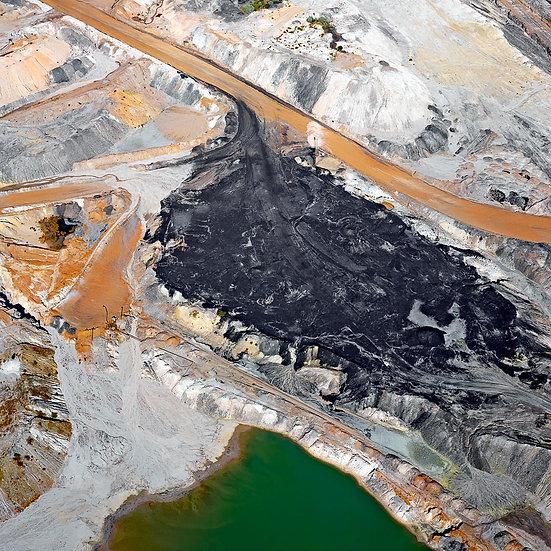 Coal Mine, Tailings Dam, Collie, South Western Australia