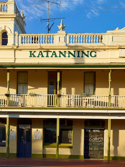 The Katanning Hotel, heritage building, Western Australia.