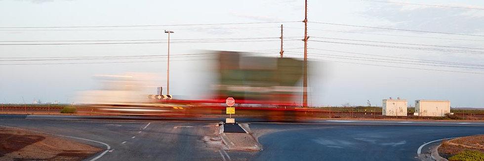 Blurred Intersection, Iron Ore train.