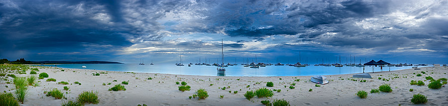 Yachts moored at Geographe Bay, Dunsborough, South Western Australia