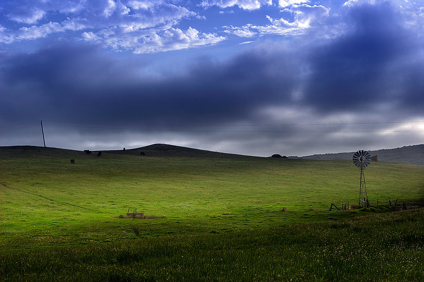 Farm land around Hamelin Bay, Cape Leeuwin, South Western Australia