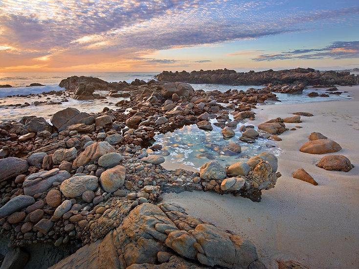 Granite Boulders on the beach at Cape Naturaliste, South Western Australia.