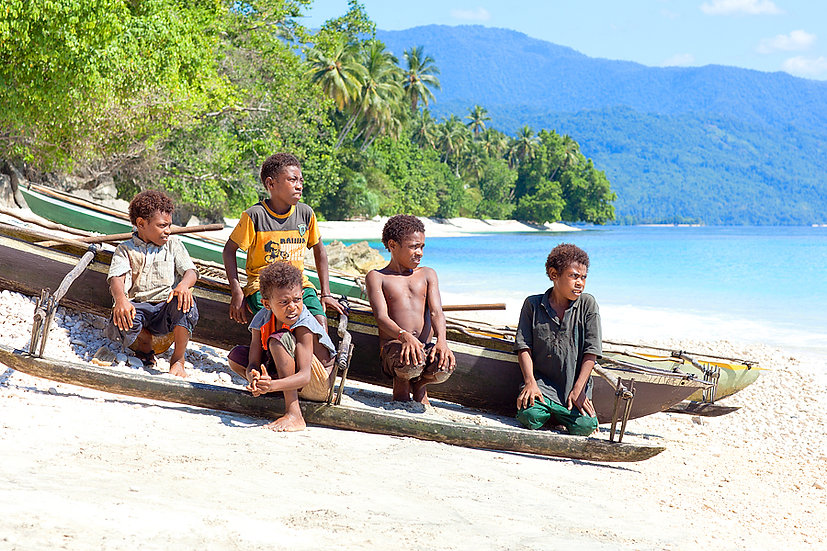 Local Children, Papua New Guinea