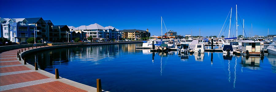 Boats and Yachts in Ocean Marina, Mandurah, Western Australia