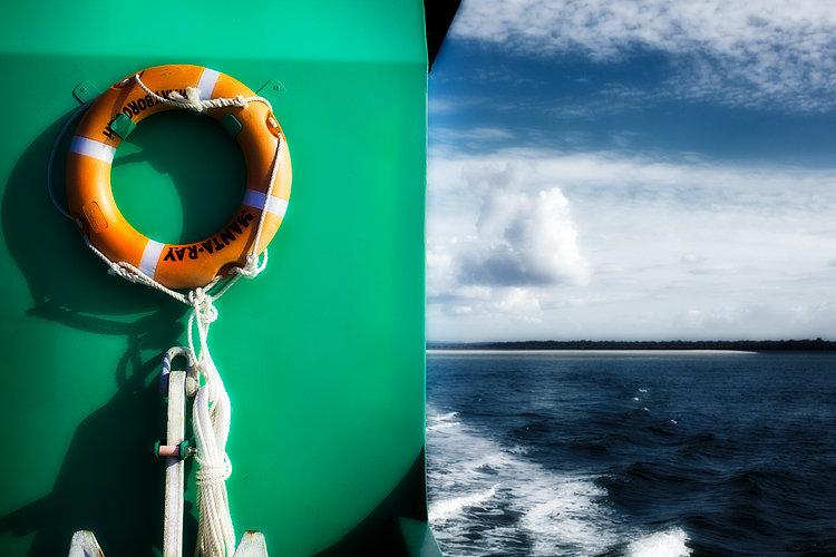 Life Ring, Boat, Fraser Island, Queensland, Australia