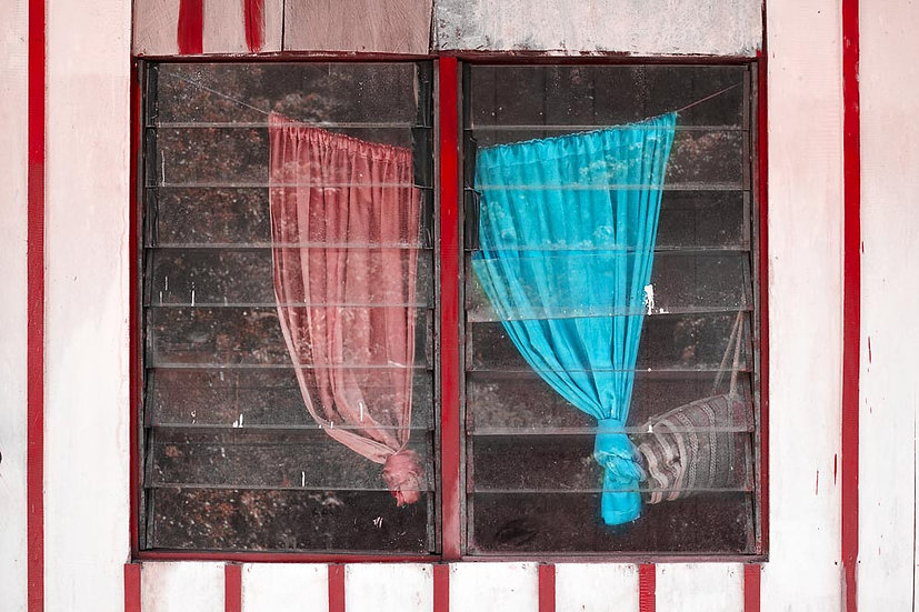 Curtained Windows in West Papua