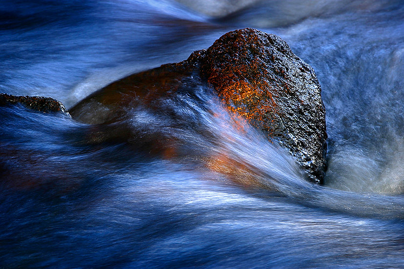 River, water flowing over granite rocks