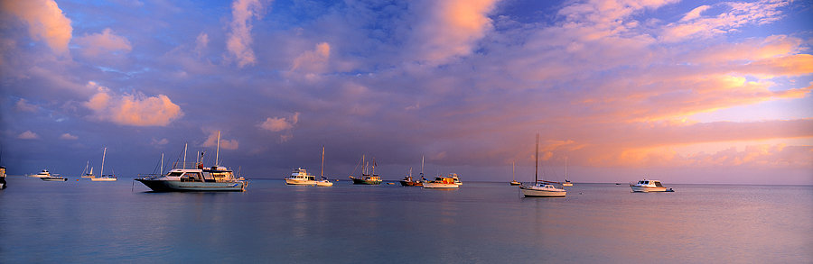Yachts and boats on Geographe Bay, Dunsborough, South Western Australia