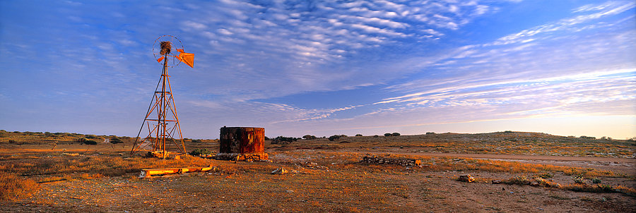 Windmil, Gnaraloo, Outback farm, North Western Australia