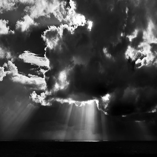 Rays of Sunshine Through the Clouds