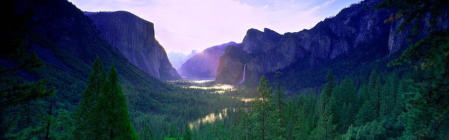 Waterfall, River, Yosemite National Park, California, Sierra Nevada, America