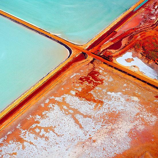 Salt lakes, Dampier, Pilbara, Western Australia