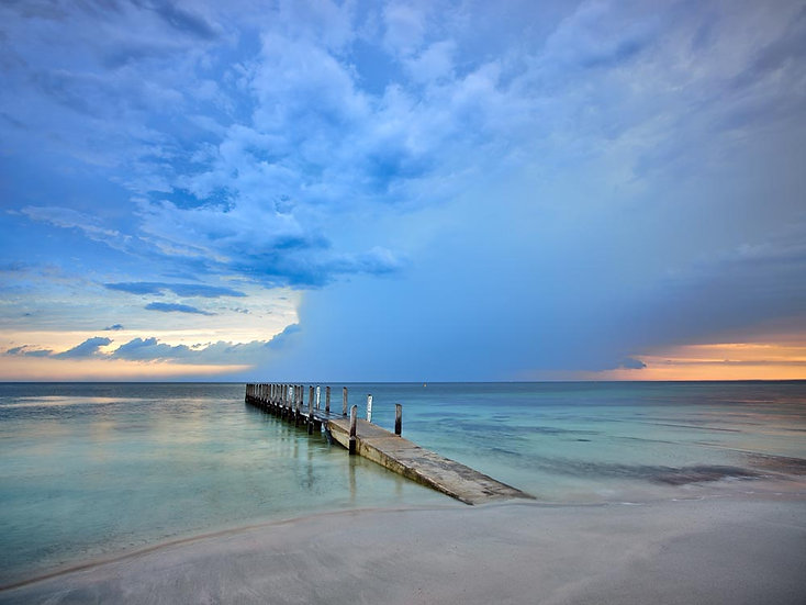 Sunrise, storm approaching Quindalup Boat Ramp, South Western Australia
