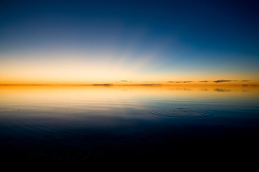 Water ripple on the calm Indian Ocean at Shark Bay, North Western Australia