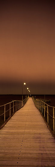 Timber jetty at night, Coogee Beach, Perth, Western Australia