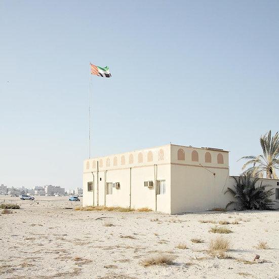 Dubai Flying the National Flag of the United Arab Emirates