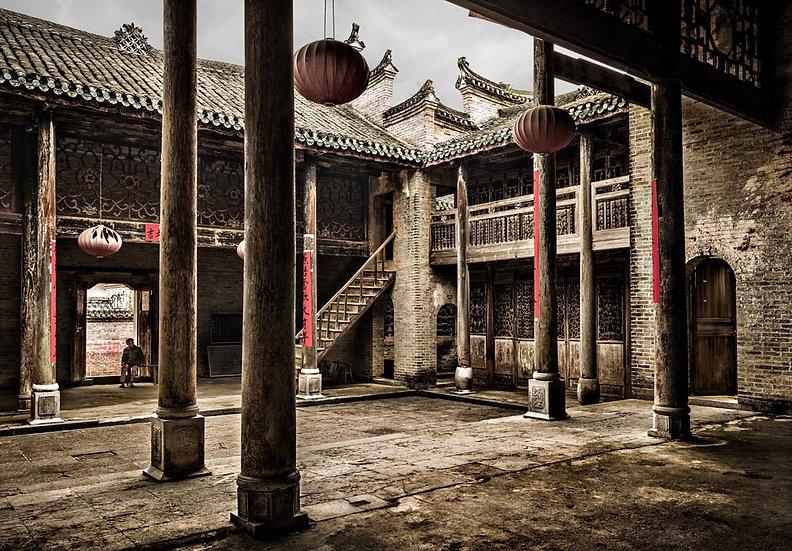 Traditional timber Chinese house, Yangshuo, Guangxi, China