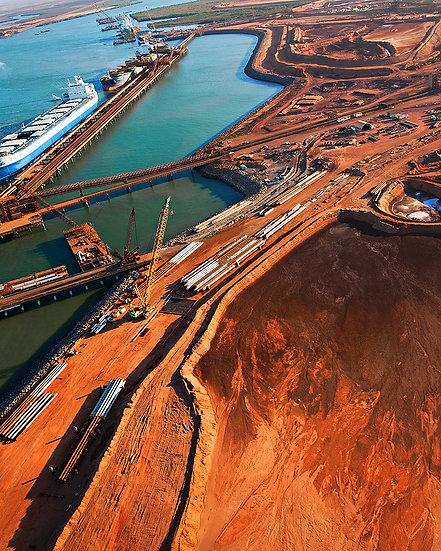 Iron Ore Mining Port, Port Hedland, Pilbara, North Western Australia