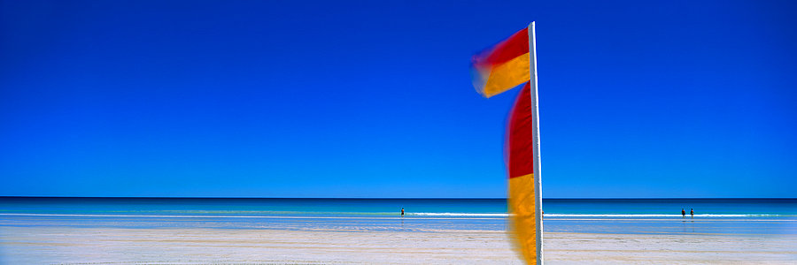 Surf flags, Cable Beach, Broome, North Western Australia