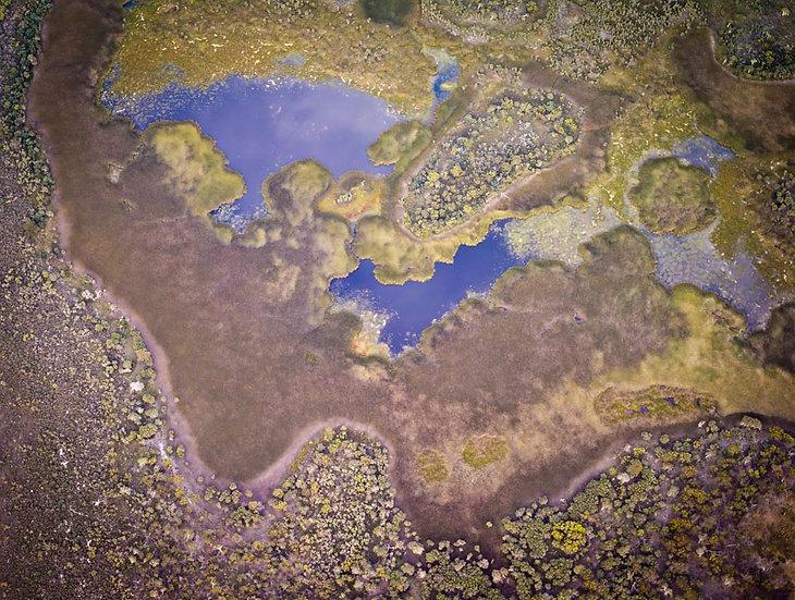 Salt Lake Aerial, Western Australia,