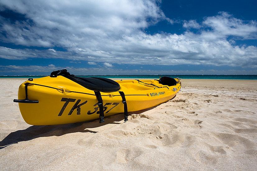 Yellow Kayak, Coral Bay, North Western Australia