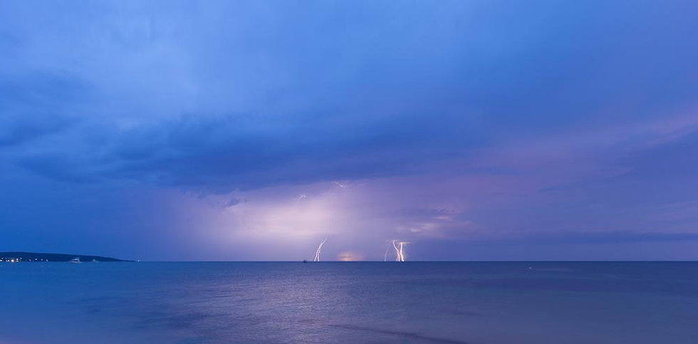 Lightning Over Dunsborough, Geographe Bay, South Western Australia