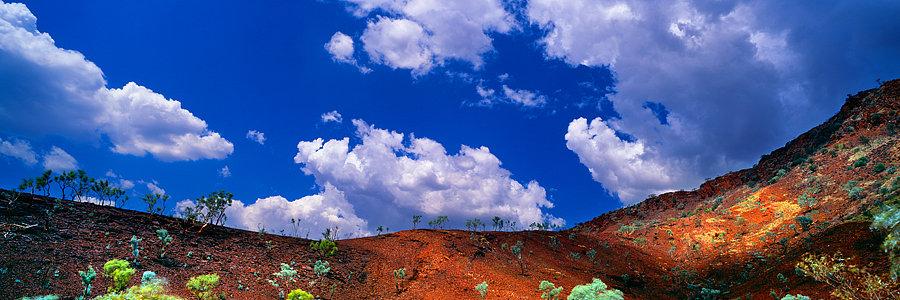 The outback red dirt, Karijini National Park, Pilbara, Western Australia