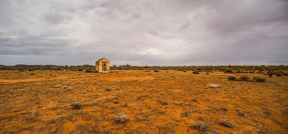Dilapidated outhouse, Outback South Australia