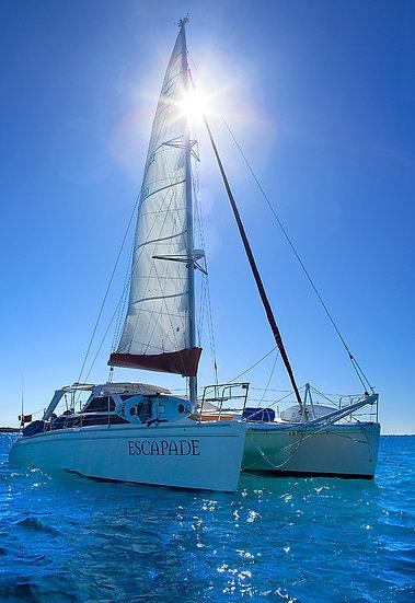 Yacht sailing, Dampier Peninsula, Kimberley, North Western Australia