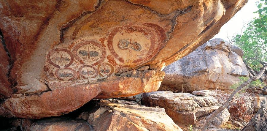 Indigenous Aboriginal Rock Art Drawings, Australia