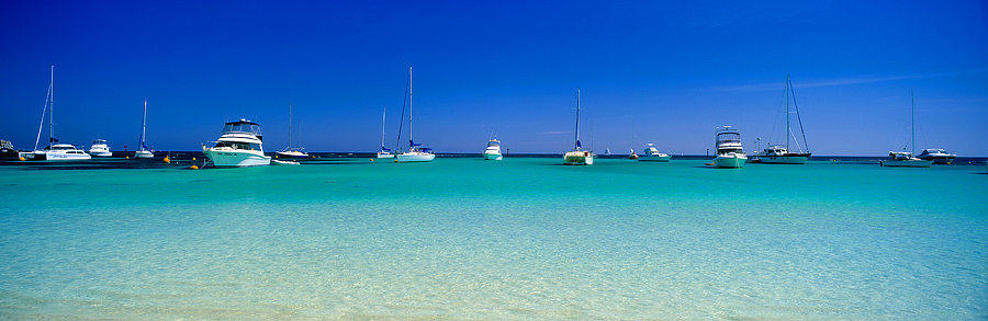 Yachts and boat, Rottnest Island, Perth, Western Australia